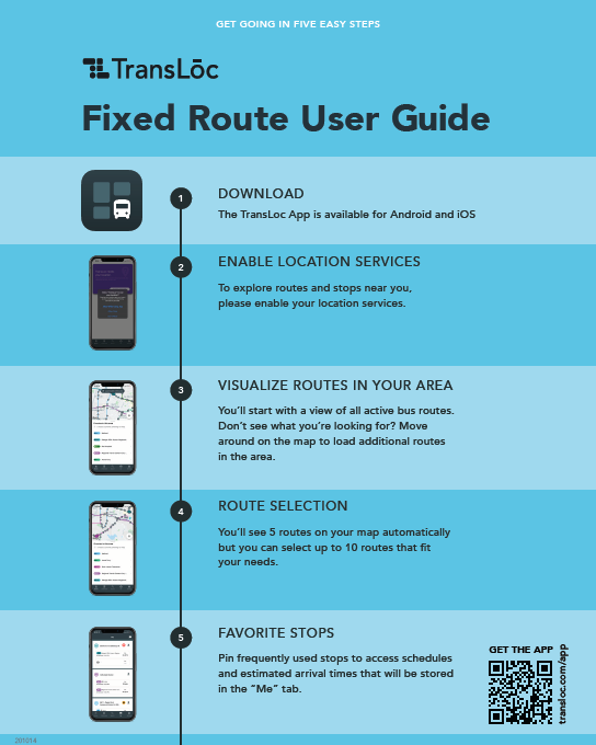 Fixed Route User Guide Flyer