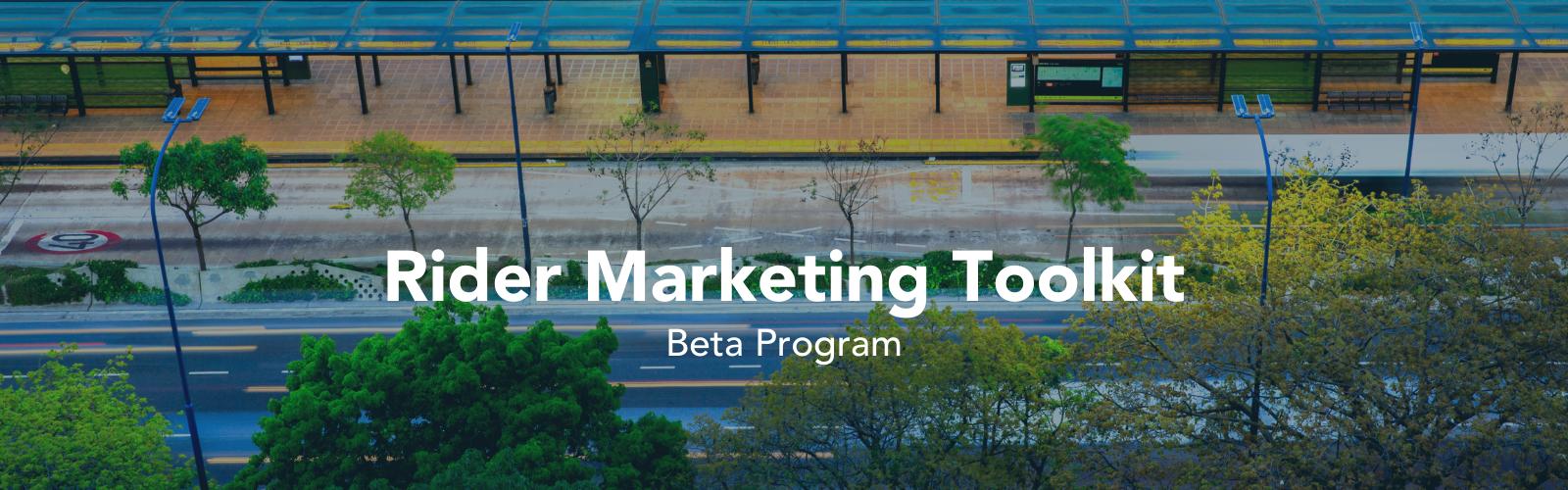 Landing Page Banner - Rider Marketing Toolkit